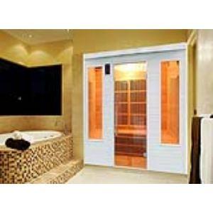 France Sauna Soleil Blanc 4 - Sauna cabine à infrarouge 4 personnes