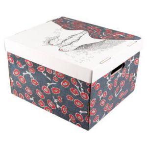 boite rangement carton avec couvercle comparer 74 offres. Black Bedroom Furniture Sets. Home Design Ideas