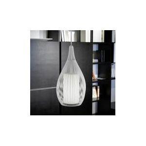 Eglo Suspension simple Razini en acier et verre satiné (19 cm)