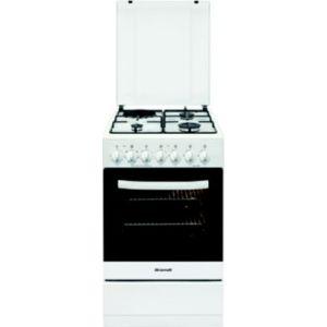 Brandt KM1555W - Cuisinière mixte 3 brûleurs gaz avec four électrique