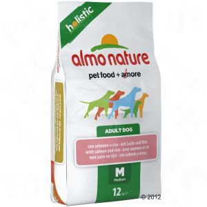 Almo Nature Chiens Holistic Medium Saumon/Riz 12 kg