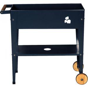 Herstera Table potagère en métal avec roues 75 x 35 x 80 cm