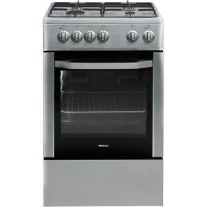 Beko CSS52001DX - Cuisinière mixte 4 foyers gaz avec four électrique