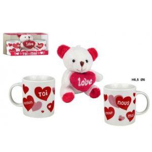 Mini mugs avec sa peluche