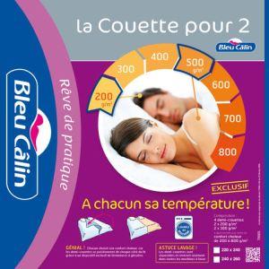 Bleu Câlin Couette pour deux (220 x 240 )cm
