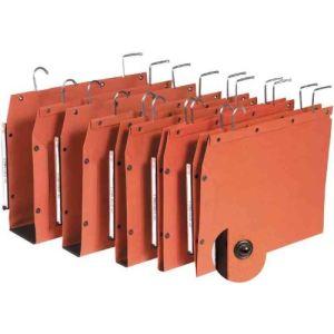 L'Oblique AZ Paquet de 25 dossiers suspendus Tub pour armoire kraft (dos : 15 mm)