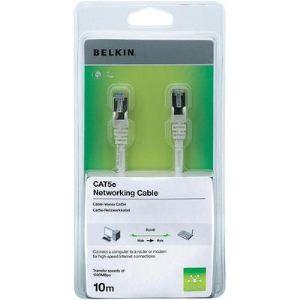 Belkin A3L791CP10MWHHS - Cordon de raccordement RJ45 M/M STP cat.5e 10 m
