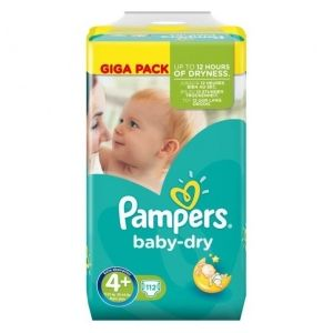 Pampers Baby Dry taille 4+ (9-18 kg) - 112 couches