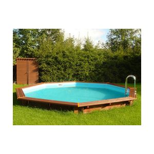 Achat viva pool himalaya piscine octogonale enterr e ou for Piscine bois semi enterree octogonale