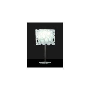 Mantra Lampe à poser Lupin 1 ampoule en chrome et acrylique 15 W