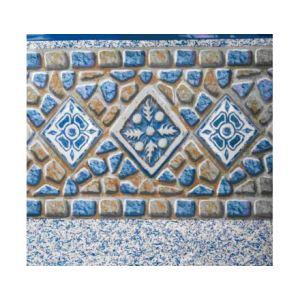 Gre FPROV739 - Liner décor mosaïque avec frise pour piscine ovale hors sol 730 x 375 x 132 cm (avec rail d'accroche)
