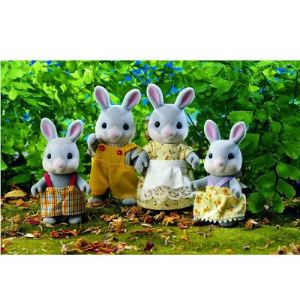 Epoch Sylvanian Families 3134 - Famille lapin gris