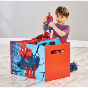 Room Studio Coffre à jouets en bois Spider-Man