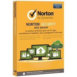 Norton Security avec Backup2015 (10 appareils, 1 an) pour Windows, Mac OS