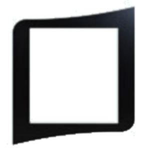 Deville CO7644.06 - Cadre de finition vague pour insert Bijou C71
