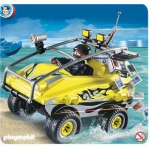 Playmobil 4449 - Véhicule Amphibie et gangster