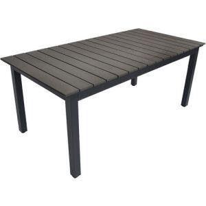 Residence Table de jardin rectangulaire Watson en aluminium et lattes composite 180/240 x 90 x 75 cm