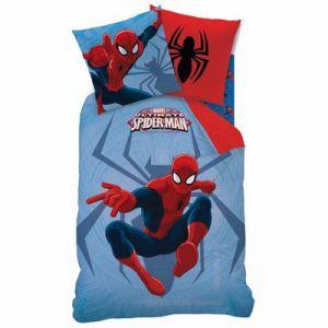 Parure housse de couette réversible masque Spiderman (140 x 200 cm)