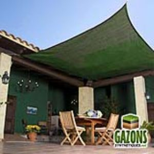 France Green Voile d'ombrage carré 5 x 5 m