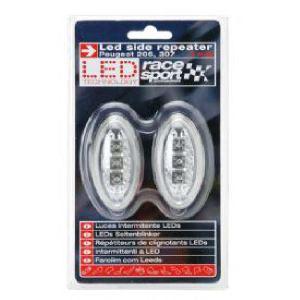 2 répétiteurs latéraux LED (Adaptables pour Peugeot 206 et 307)