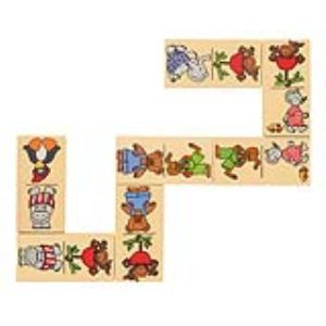 Goki Domino avec boîte en bois Animaux