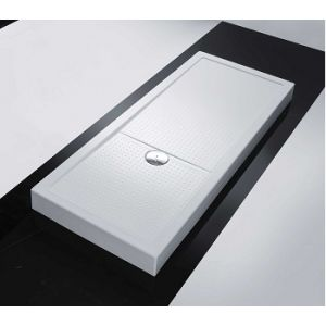 Novellini Olympic Plus - Receveur de douche rectangulaire (12.5 x 160 x 70 cm)