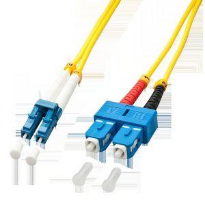 Lindy 47473 - Câble Ethernet Fibre optique Duplex LC/SC OS2 5 m Jaune