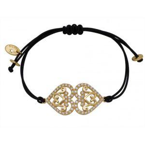 Reminiscence Paris 1BRA214P - Bracelet en or sur cordon pour femme