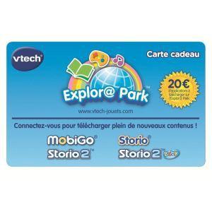 Vtech Carte Cadeau Explora Park pour Storio et Mobigo