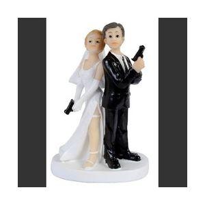 Figurine couple de mariés espions