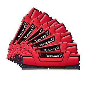 G.Skill F4-3000C15Q2-64GVR - Barrette mémoire RipJaws 5 Series Rouge 64 Go (8x8 Go) DDR4 3000 MHz CL15