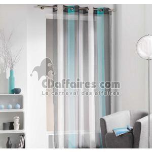 rideaux voilage turquoise comparer 184 offres. Black Bedroom Furniture Sets. Home Design Ideas