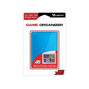 Subsonic Boitier de rangement transparent/bleu pour cartouche/carte SD Nintendo Switch - 16 emplacements