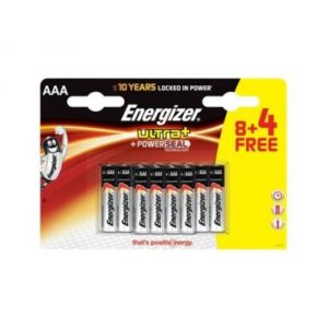 Energizer Ultra+ 12 piles alcaline AAA LR03 1,5V
