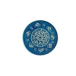 Carrom Art Palet de compétition bleu de 13 grammes pour Carrom