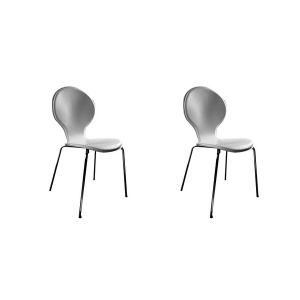 Orge - 2 chaises en simili cuir