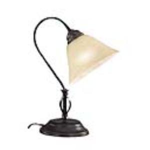 Honsel 92271 - Lampe de bureau Colonial en métal et verre