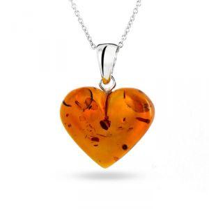 Rêve de diamants COBA02019 - Pendentif tout ambre et argent 925/1000