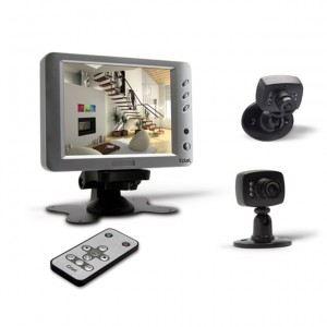 Extel WESV 87053 - Kit de vidéosurveillance avec 2 caméras filaire couleur