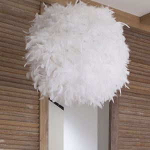 Boule plumes comparer 98 offres - Suspension plumes blanches ...