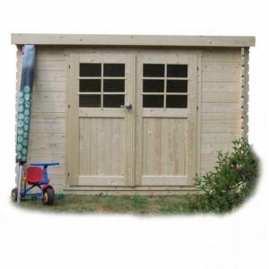 Solid S8215 - Abri de jardin Brest en bois 28 mm 7,53 m2