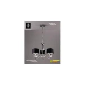 Mantra Suspension Akira 3 ampoules en chrome 40 W