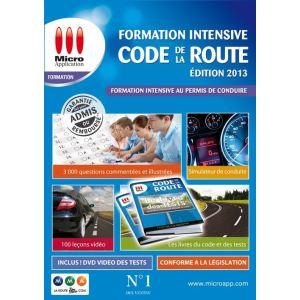 acheter micro application code de la route formation intensive 2013 pour windows. Black Bedroom Furniture Sets. Home Design Ideas