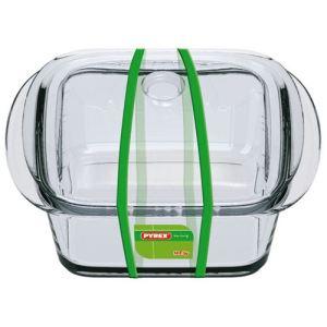Pyrex Mini cocotte carrée en verre (25 cl)