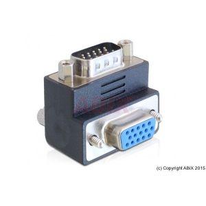 Delock 65289 - Adaptateur VGA M/F angle de 90°