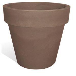 Deco & Tendance First ø35 - Pot de fleurs en plastique rotomoulé Ø35 cm