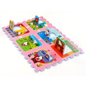 Tatamiz Tapis puzzle Hello Kitty maison