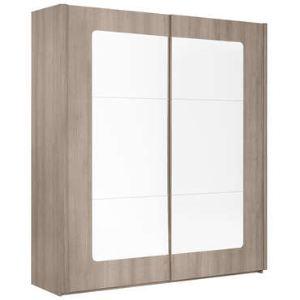Armoire Quadra 2 portes coulissantes avec miroir