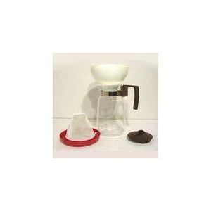 Cafetière en verre avec filtre permanent