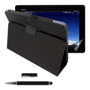 Kwmobile Etui élégant en cuir 3en1 pour Asus Memo Pad 10 ME102A avec film, transparent, stylet
